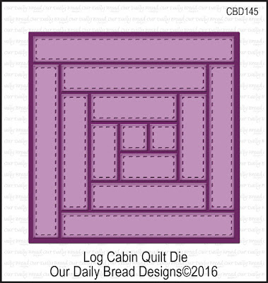 Our Daily Bread Designs Custom Die: Log Cabin Quilt