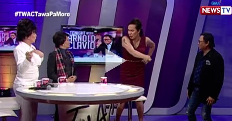 "Nura, Velma and Tetay's acting showdown in ""Tonight with Arnold Clavio"""