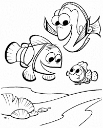 Adorable Fish Nemo Coloring Pages