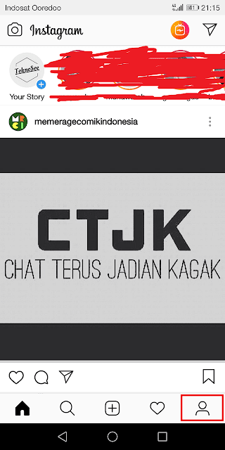 buka menu profil instagram