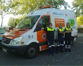 Ambulancia del SAU en Algete