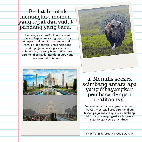 profesi travel writer