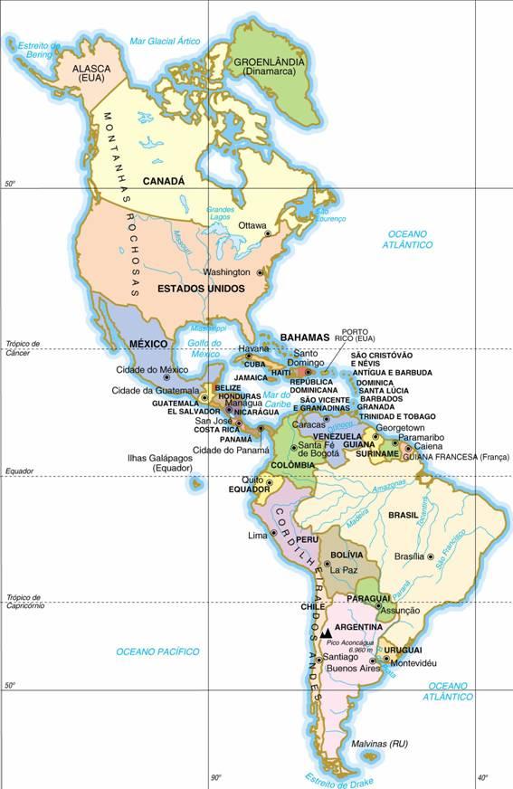 América, Aspectos Geográficos da América