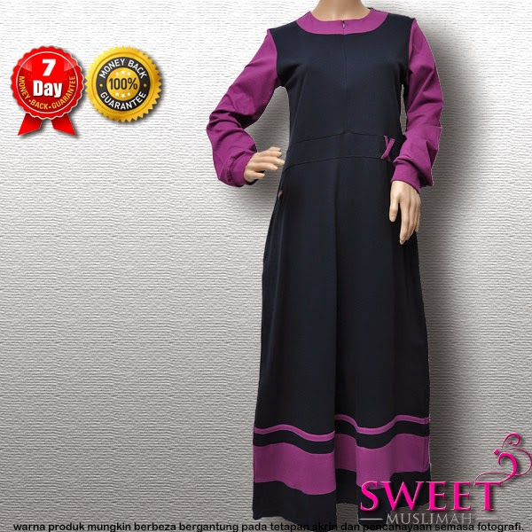 JUBAH COTTON MT90 Biru Navy (KOLEKSI MUTIF) - SOLD OUT