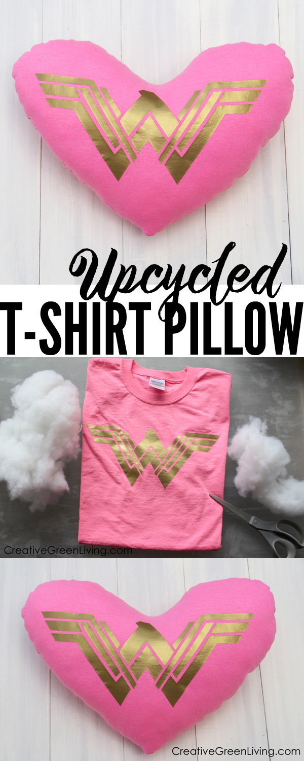 I love this DIY upcycling t-shirt craft. It's perfect for teens or kids just learning how to sew. What a creative idea for how to cut up an old shirt and end up with something awesome!