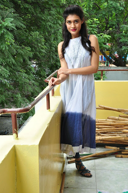 Kimaya Bhattacharya in White Long Kurti Dress