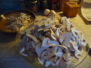 Crema de champiñon cocina vegana vegetariana champiñon portobello, champiñones chalotas