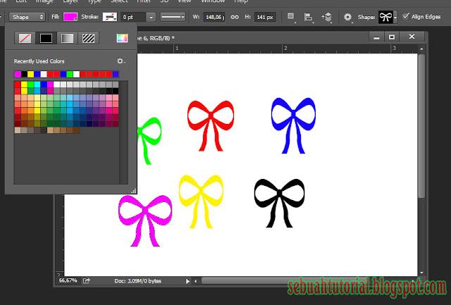 Mengenal Custome Shape Tool Di Photoshop