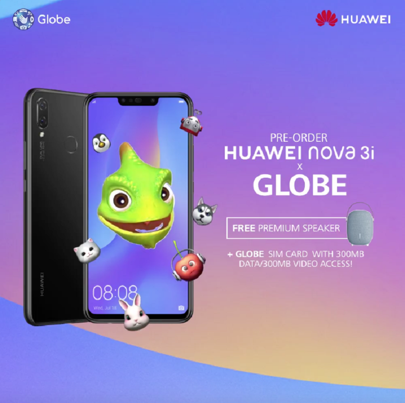 Pre-order Huawei Nova 3i on Globe and get these exciting