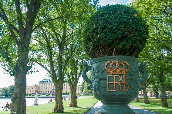 Estocolmo. Embarcadero del palacio Drottningholm