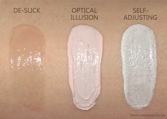 Urban Decay UD Primers De-Slick Self-Adjusting Optical Illusion Review Swatches