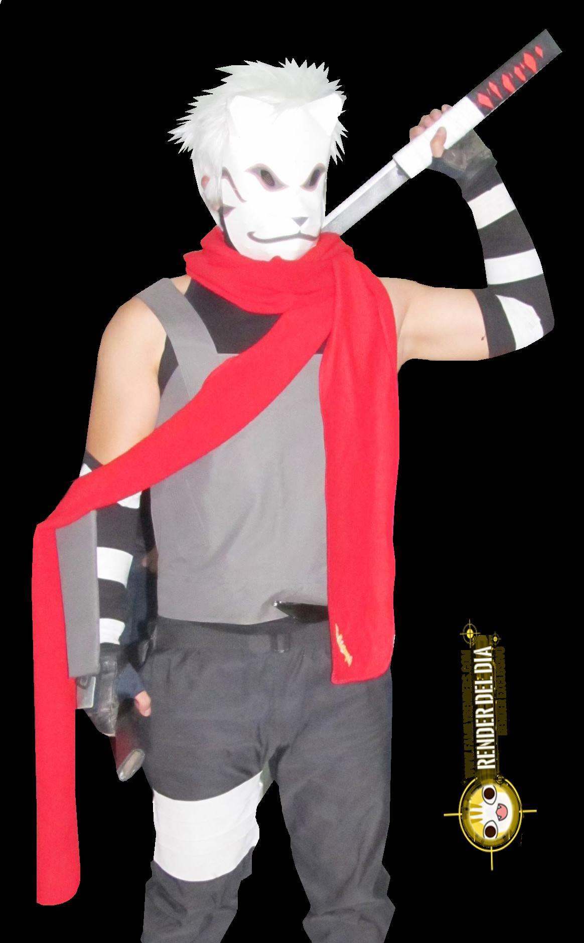 Render Kakashi + Naruto + Cosplay