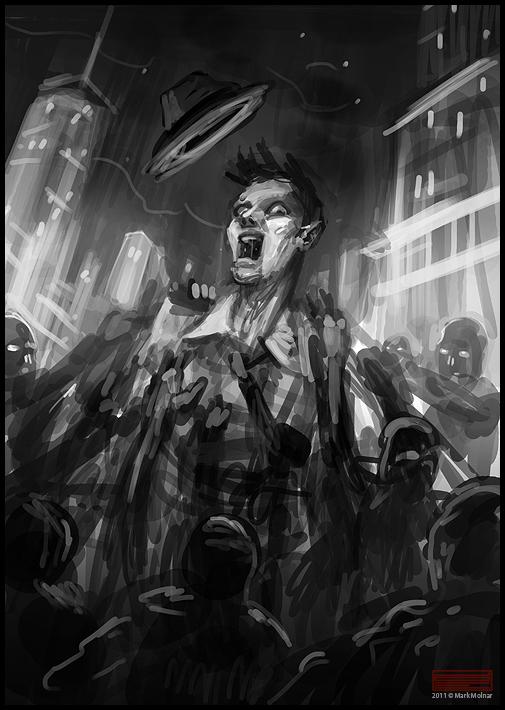 Film Noir Zombie Hunter - Cover Art SketchesZombie Hunter Concept Art