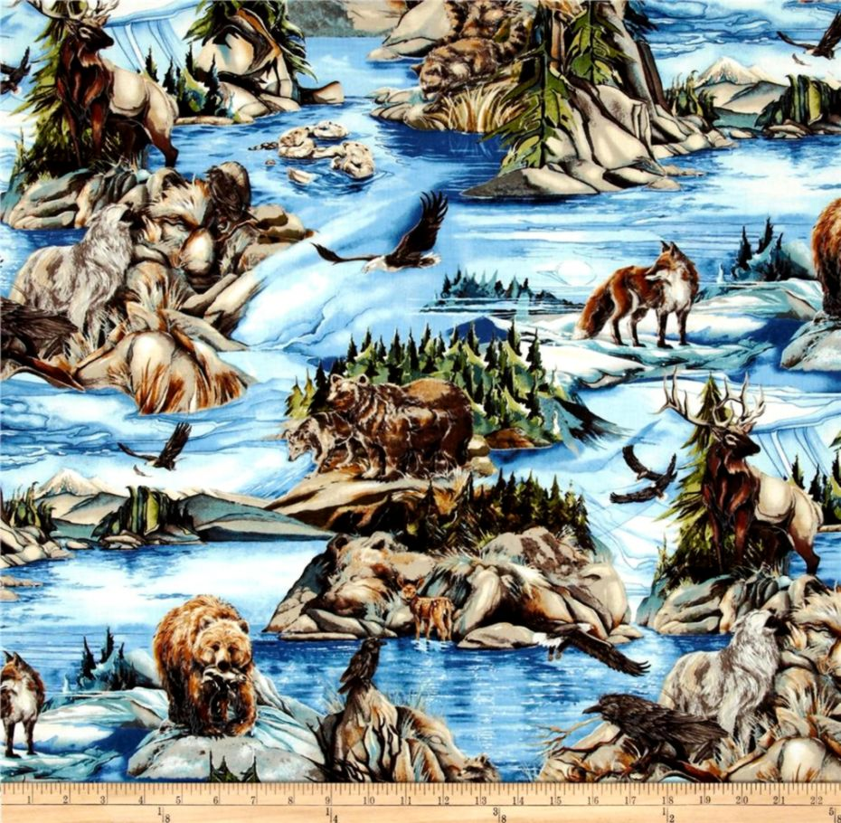 North American Wildlife 3 Animal Collage Nature Discount