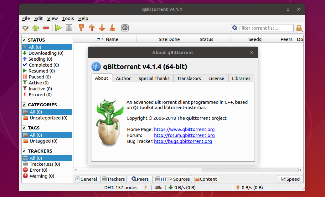 qBittorrent 4 1 4 Released, Install on Ubuntu (18 04/18 10) and