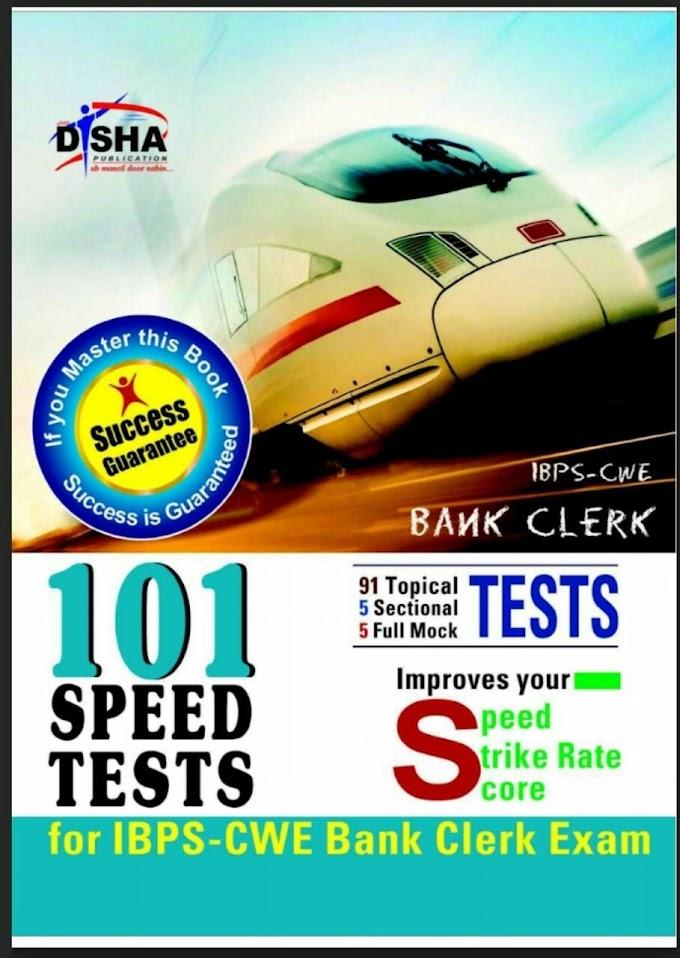 Disha Bank Clerk 101 Speed Test Practice Book PDF Download