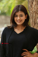 Actress Hebah Patel Stills in Black Mini Dress at Angel Movie Teaser Launch  0055.JPG