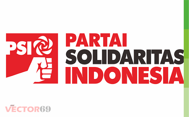 Logo PSI (Partai Solidaritas Indonesia) Landscape - Download Vector File CDR (CorelDraw)