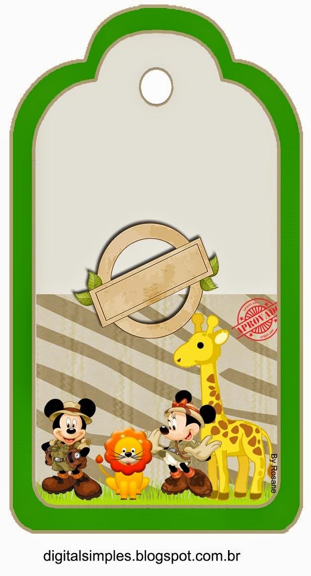 Marcapaginas de Mickey y Minnie de Safari.