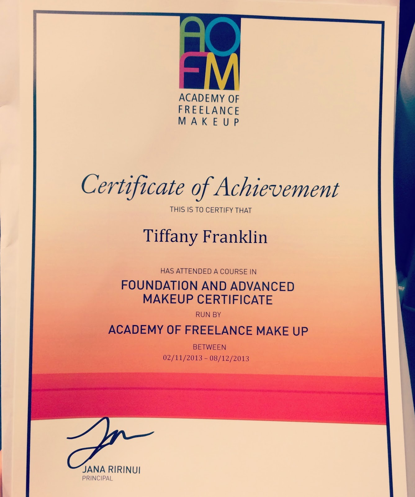 Tiffanysbeautybox Training To Become A Make Up Artist At Aofm London Masters Certificate In Professional Artistry