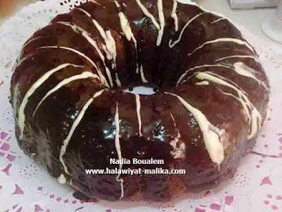 Choco Coco Cake كيك بكرات جوز الهند