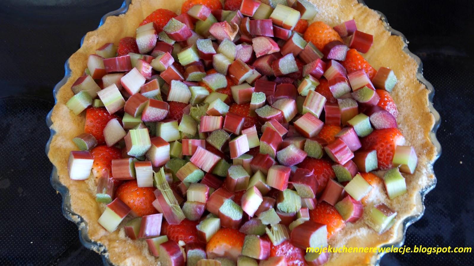 truskawki i rabarbar