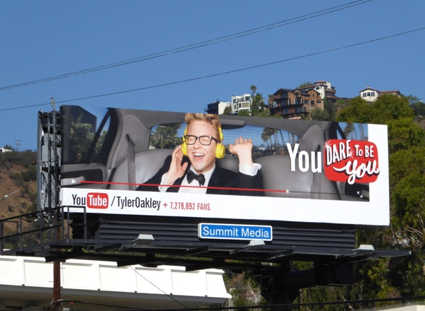 Tyler Oakley YouTube billboard