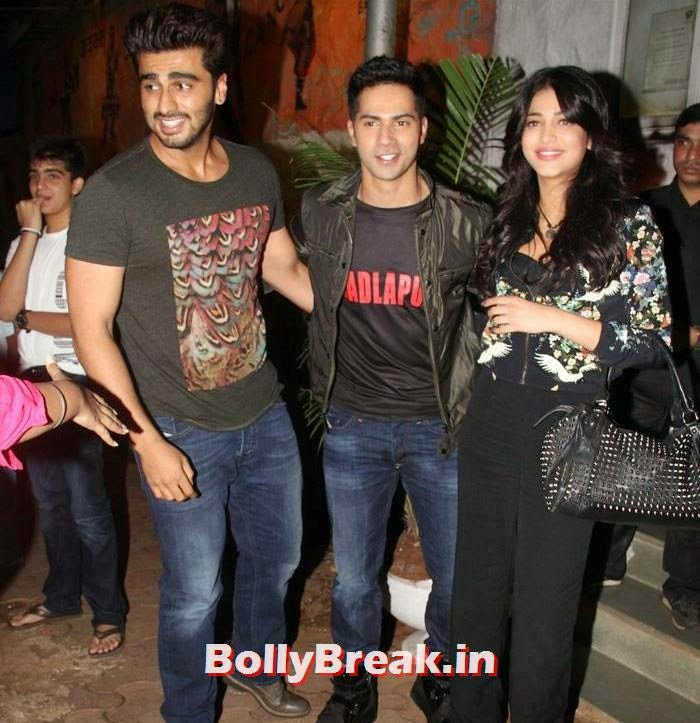 Arjun Kapoor, Varun Dhawan, Shruti Hassan, Varun, Yami, Shruti, Nargis Pics from Badlapur Movie Wrap up party