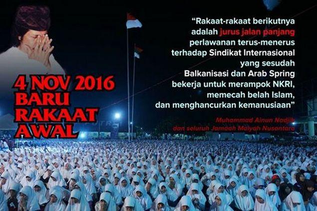Cak Nun: 4 November 2016, Ini Baru Rakaat Awal
