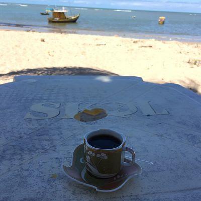 Itaparica. Rio Mar. Bahia. Brasil. Café y mar