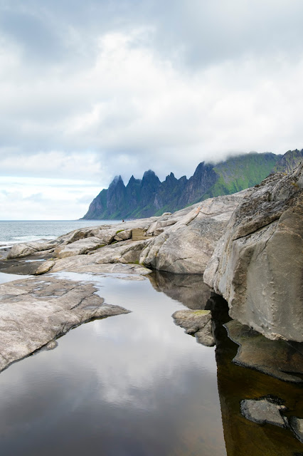 Isola di Senja-Punto panoramico verso Mefjordvaer-Isole Lofoten