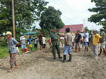Kepedulian Danramil Dengan Warga Desa Binaan