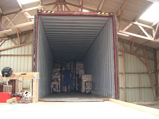 Loading the container in progress