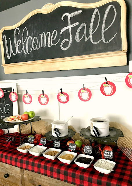 DIY Apple Slice Dipping Bar