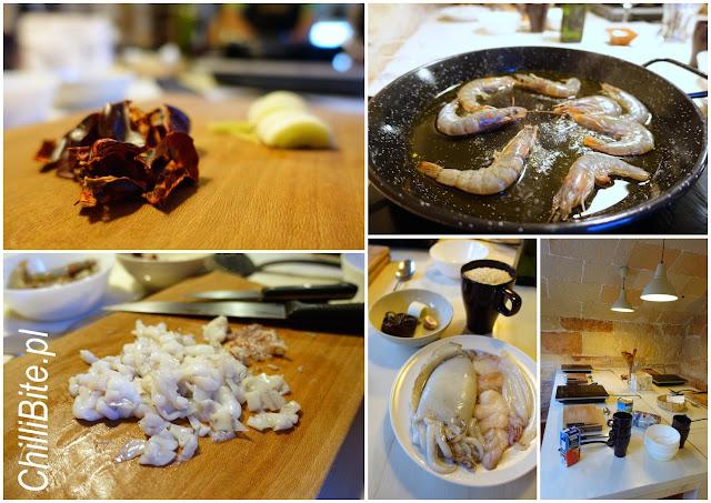 Paella z owocami morza warsztaty w Cuk-Cuk na Minorce