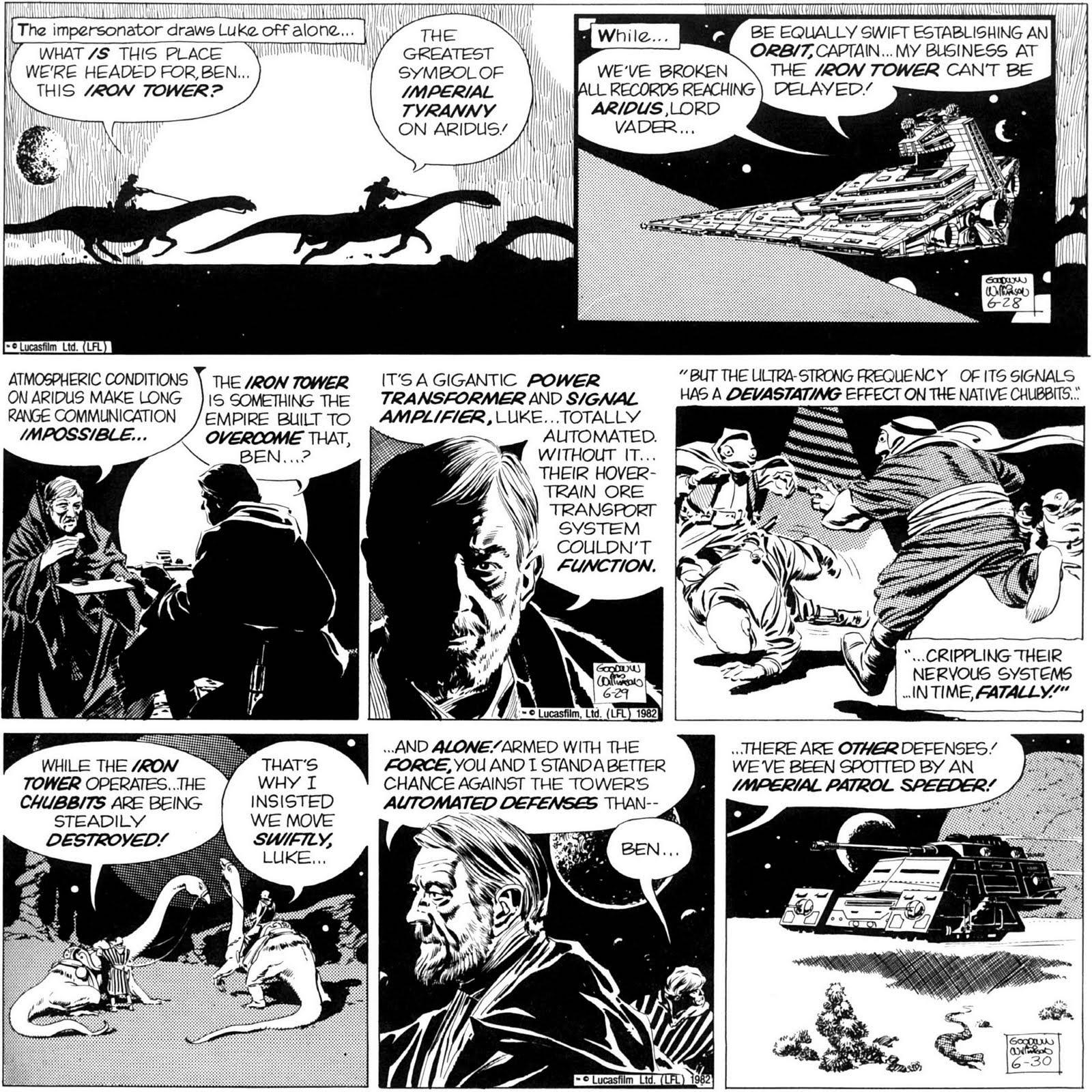 O gajo de culos star wars press strips de al williamson for Planeta de agostini r2d2