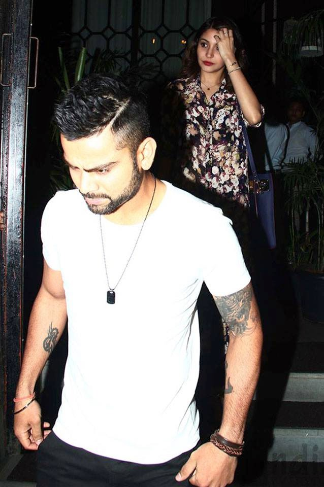 Anushka Sharma & Virat Kohli snapped outside