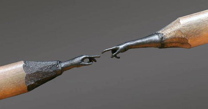 Esculturas increíblemente intrincadas tallados en la punta de los lápices Jasenko Đorđević