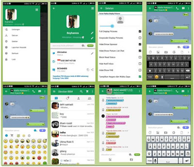 BBM GREEN MOD THEMES BASE V.2.12.0.9 APK