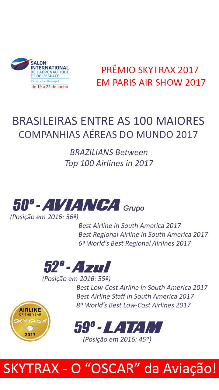 """Conheça os ganhadores do """"Óscar da Aviação"""" de 2017"""