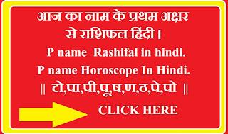 P  name Horoscope In Hindi