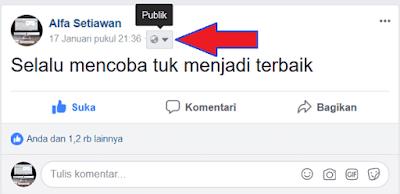 Privasi Publik di facebook desktop