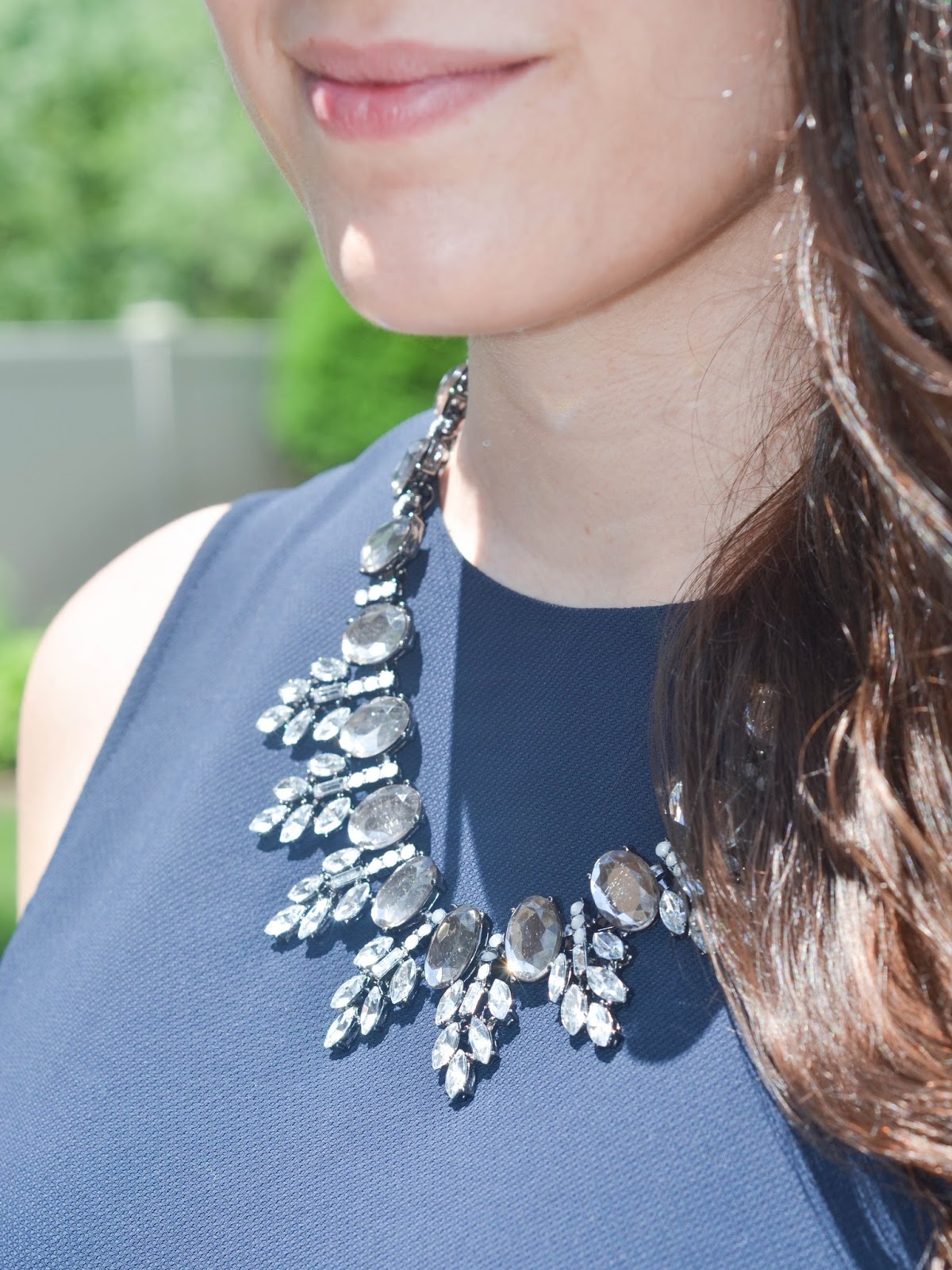 happiness boutique elegance statement necklace in grey