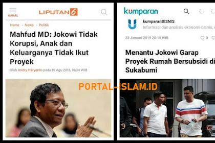 Kata Mahfud MD: Jokowi Tidak Korupsi, Anak dan Keluarganya Tidak Ikut Proyek... TERNYATA...