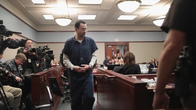 Médico de gimnasia de EEUU, condenado a 175 años por abuso sexual