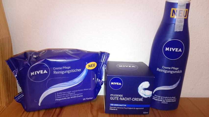 test blog abendroutine mit nivea creme pflege produkten. Black Bedroom Furniture Sets. Home Design Ideas