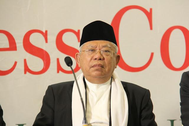 KH Ma'ruf Amin Menangis Saat Ceritakan Tanggung Jawab Besar Ulama kepada Umat