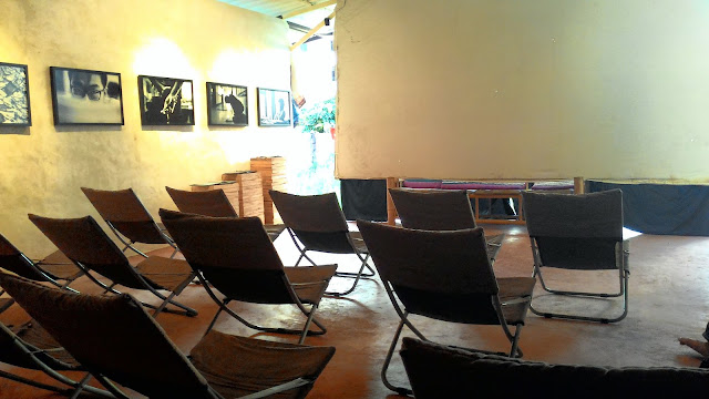 Lots of chairs at Doc Arts Asia movie night