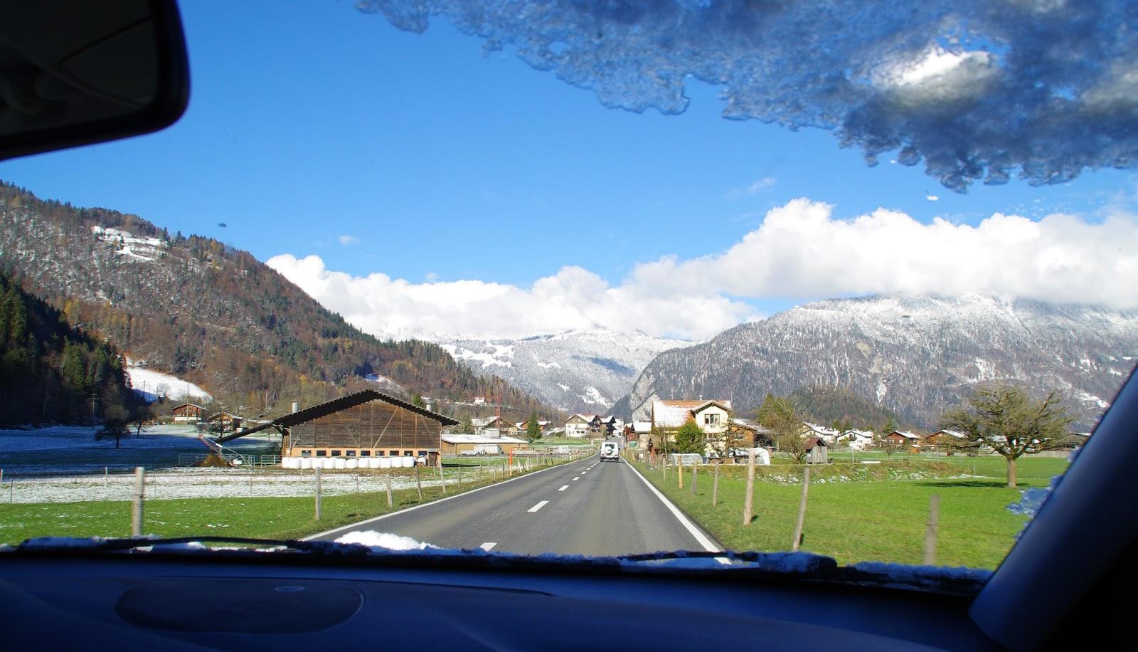 Driving Interlaken Winter