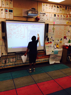 Finally, our last mathematician provides a different strategy for the class to solve the division frame with.